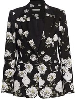Alice + Olivia Macey Fitted Floral Blazer