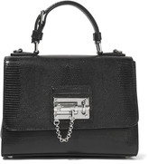Dolce & Gabbana Textured patent-leather shoulder bag