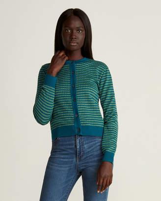 Marni Striped Circle Knit Cardigan