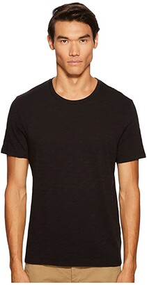Vince Short Sleeve Slub Crew Neck (Black) Men's T Shirt