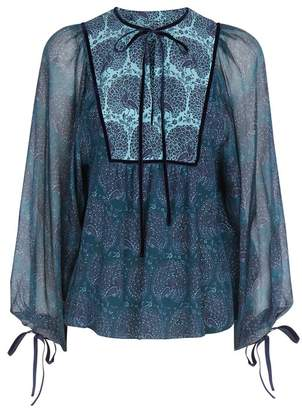 Talika Beulah London Peacock Emerald Blouse