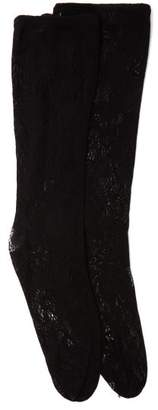 Gucci Logo Band-trim Lace Socks - Womens - Black