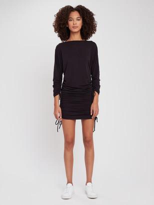 Lanston Sport Drawstring Mini Dress