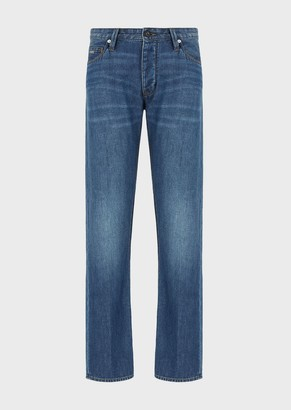 Emporio Armani J76 Regular-Fit, Clean-Look Denim Jeans