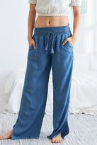 aerie Wide Leg Chambray Pant