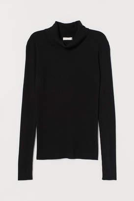 H&M Rib-knit Turtleneck Sweater - Black