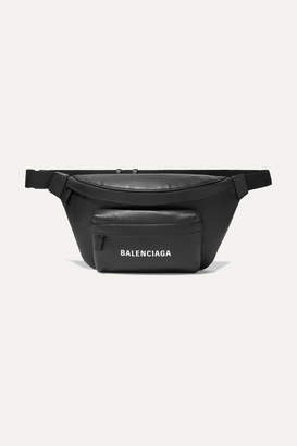 Balenciaga Everyday Printed Leather Belt Bag - Black