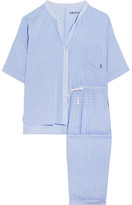 DKNY The Lineup Striped Modal-blend Voile Pajama Set - Light blue