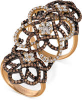 LeVian Le Vian Chocolatier Diamond Knuckle Ring (2 ct. t.w.) in 14k Rose Gold
