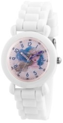 EWatchFactory Disney Frozen 2 Elsa Girl's White Plastic Time Teacher Watch 32mm