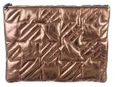 Maje Quilted Leather Pouch