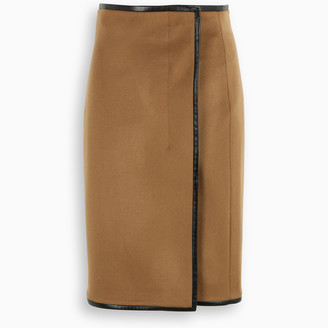 Saint Laurent High-waist wrap skirt