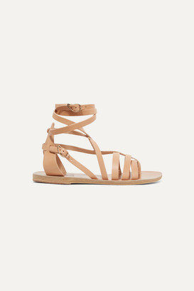 Ancient Greek Sandals Satira Leather Sandals - Beige