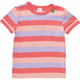 Green Cotton Fred's World by Girl's Multi Stripe S/s T T-Shirt