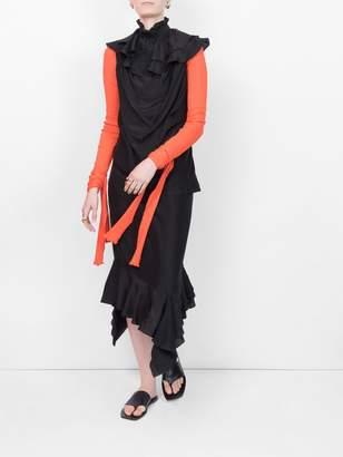 J.W.Anderson sleeveles ruffle dress