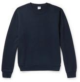 Aspesi Garment-dyed Loopback Cotton-jersey Sweatshirt - Navy