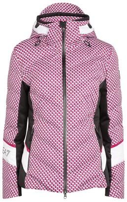 Giorgio Armani Geometric Print Ski Jacket