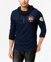 INC International Concepts Men's Quarter-Zip Patch Hoodie, Created for Macy's