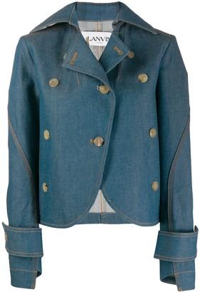 Lanvin Asymmetric Cut Denim Jacket