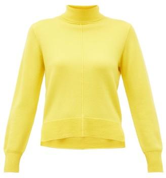 Sea Nora Side-slit Roll-neck Wool Sweater - Yellow