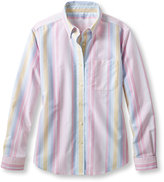 L.L. Bean Easy-Care Washed Oxford Shirt, Long-Sleeve Multistripe