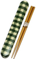 Tatsumiya HAKOYA 18.0 cloth stuck chopstick case set Hoccori Green 33107