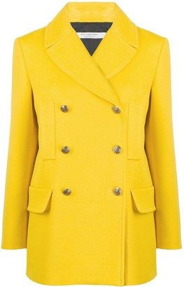 Philosophy di Lorenzo Serafini Double-Breasted Multi-Pocket Pea Coat