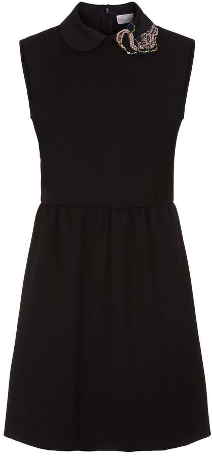 RED Valentino Embellished Collar Mini Dress