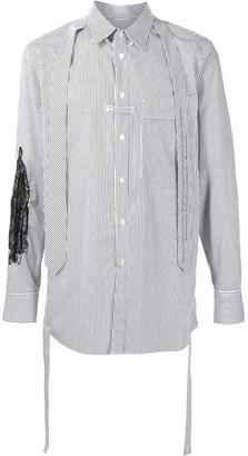 SONGZIO Panelled Pinstripe Shirt