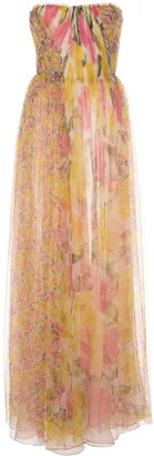 Jason Wu Collection Silk Strapless Long Dress