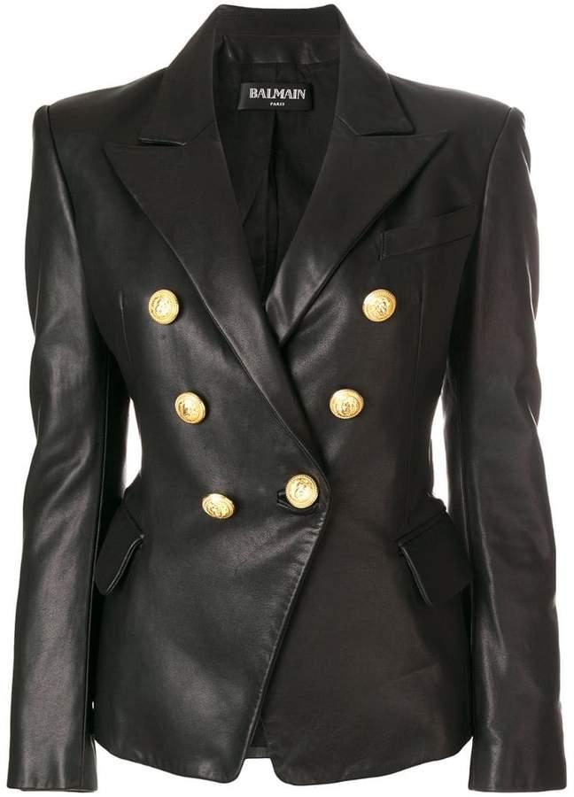 d22ae9acab6 Balmain Double Breasted Jacket - ShopStyle