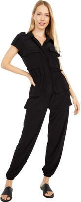 Norma Kamali Women's Sleeveless NK Cargo Jumpsuit