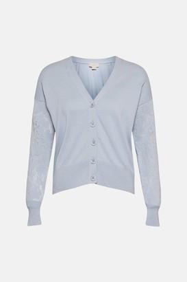 Coast Lace Sleeve Knitted Cardigan