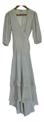 Ganni Beige Silk Dress for Women