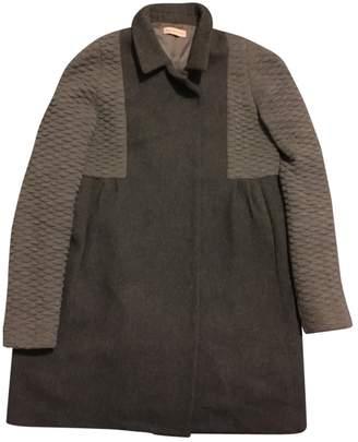 Erotokritos Grey Wool Coat for Women