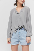 Out From Under Colby Brushed Oversized Henley Top