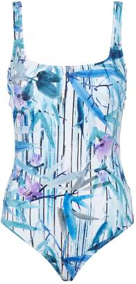 Gottex Exotic Paradise Square-Neck Swimsuit