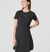 LOFT Petite Ivy Jacquard Flare Dress