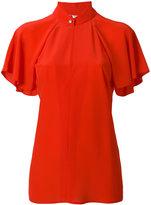 Lanvin ruffle sleeved blouse - women - Silk - 36