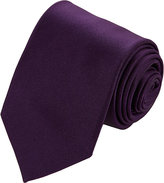 Drakes Drake's Men's Satin Neck Tie-PURPLE