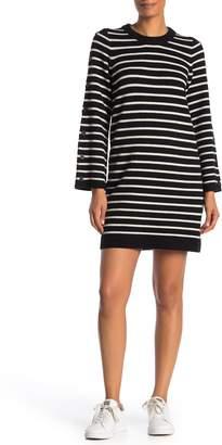 Madewell Button Sleeve Sweater Dress