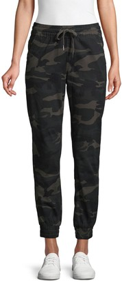 RD Style Camo-Print Stretch-Cotton Jogger Pants