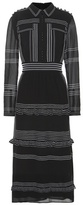 Burberry Embroidered Silk Dress