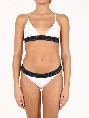 Off-White Logo Tape Bikini Set
