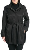 Calvin Klein Plus Size Women's Poplin Trench Coat