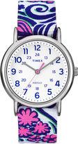 Timex Womens Weekender Blue Swirl Reversible Strap Watch