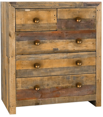Classic Home By Kosas Home Norman Reclaimed Pine 5 Drawer Dresser