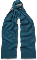 Loro Piana Cavalry Two-Tone Cashmere and Silk-Blend Scarf