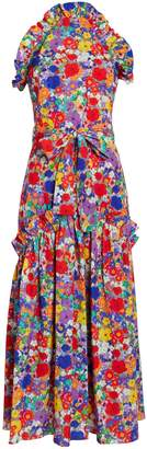 Borgo de Nor Dora Crepe Floral Dress