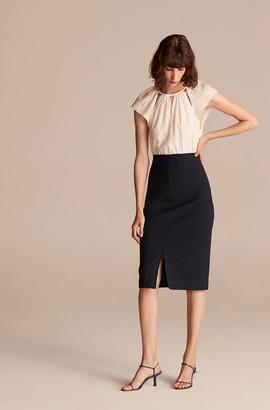 Rebecca Taylor Tailored Basketweave Suiting Skirt